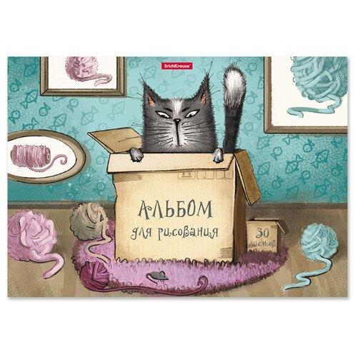Купить Альбом ErichKrause Cat & Box 29.7 х 21 см (A4), 120 г/м², 30 л., Альбомы для рисования