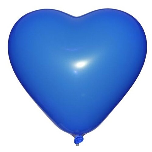 Набор воздушных шаров MILAND Пастель Сердце 31 см ШВ-4850 (100 шт.) небесно-синий