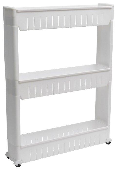 Этажерка HOMSU выдвижная, материал: пластик, ШxГxВ: 12х54х72 см, белый