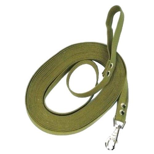 Поводок для собак Зоотехнология-М ЗООТЕХНОЛОГИЯ-М Поводок брезентовый 7м*25мм зеленый 7 м 25 мм недорого