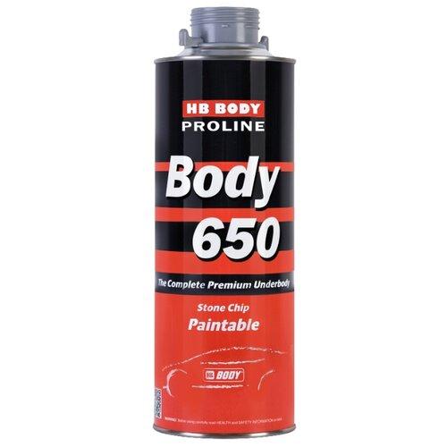 Жидкий антигравий HB BODY Body 650 серый банка 1 кг