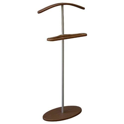 Напольная вешалка Мебелик Дэви 3 металлик/средне-коричневый