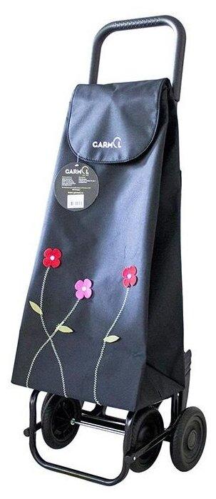 Купить Тележка с сумкой FLOR BORDADA шасси G4 (230G4 FB), С-653 (черный) по низкой цене с доставкой из Яндекс.Маркета