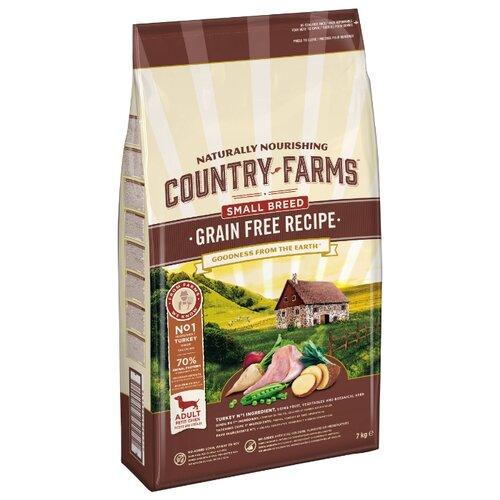 Сухой корм для собак Country Farms индейка 7 кг (для мелких пород) крем для тела farms therapy farms therapy fa048lwenjy2