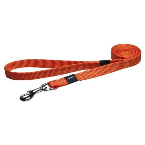 Поводок для собак Rogz Utility Snake M orange 1.4 м 16 мм