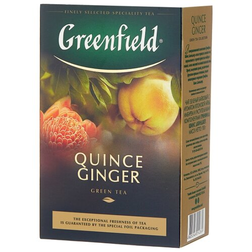 Чай зеленый Greenfield Quince ginger , 100 г