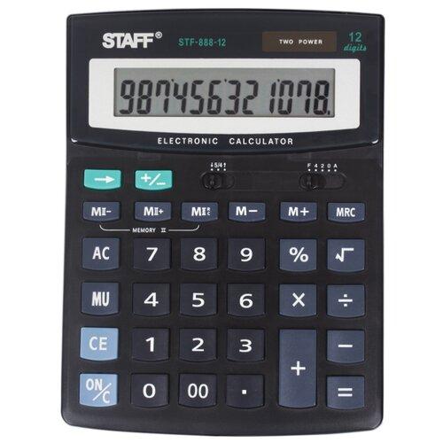 Калькулятор бухгалтерский STAFF STF-888-12 черный калькулятор canon as 888