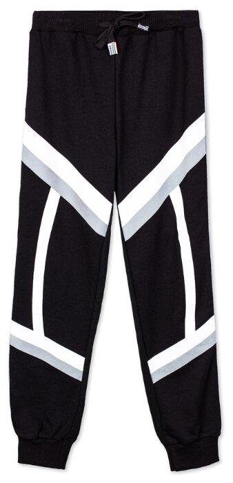 Купить Спортивные брюки playToday размер 116, белый/черный по низкой цене с доставкой из Яндекс.Маркета (бывший Беру)