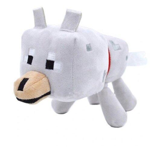 Мягкая игрушка Волк из майнкрафт 20 см