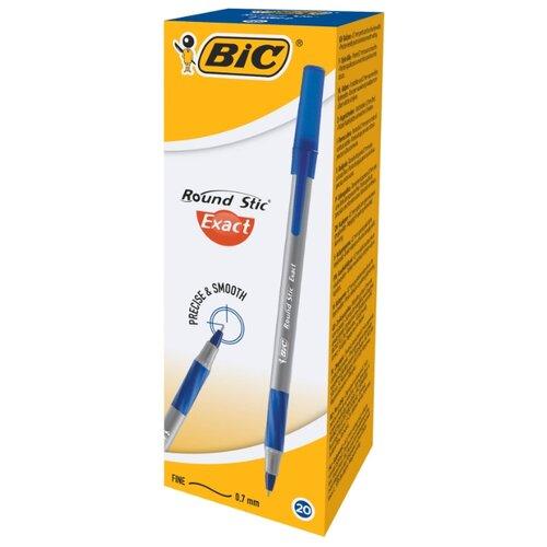 BIC Набор шариковых ручек Round Stic Exact, 0.7 мм (918543/918542), синий цвет чернил