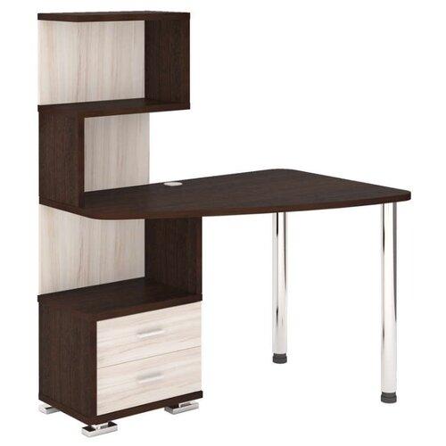 Компьютерный стол Мэрдэс Домино СКМ-60, 120х78 см, угол: справа, тумба: слева, цвет: венге/карамель