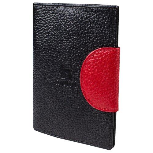 Обложка для паспорта Mumi черный 160-21, натуральная кожа