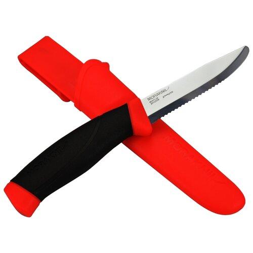 цена на Нож MORAKNIV Companion F Serrated с чехлом черный/красный