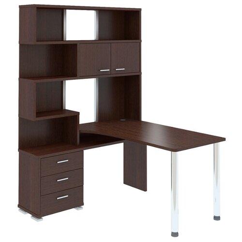Компьютерный стол угловой Мэрдэс Домино СР-420, 130х150 см, тумба: слева, цвет: венге террариум в угловой 60л 420 420 410