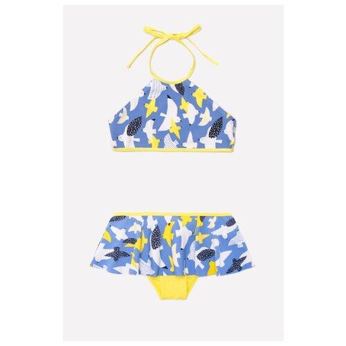 Купить Купальник crockid размер 128-134, голубой сапфир, Белье и купальники