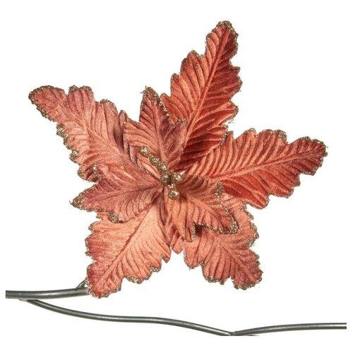 Елочная игрушка Goodwill Пуансеттия на клипсе 28 см (FL 18003) розовый.
