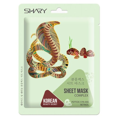 Купить Shary тканевая маска-комплекс Пептид Syn-ake и Ретинол, 25 г