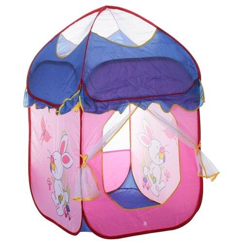 Палатка Yongjia Toys Красивый домик 889-82B розовый/синий/прозрачный