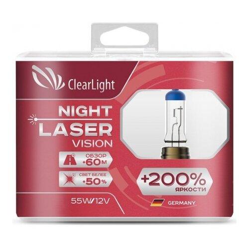 цена на Лампа автомобильная галогенная ClearLight Night Laser Vision +200% ML9006NLV200 HB4 55W 2 шт.