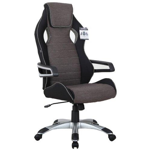 Компьютерное кресло Brabix Techno GM-002 игровое, обивка: текстиль, цвет: черный/серый компьютерное кресло brabix nitro gm 001 игровое обивка искусственная кожа цвет черный