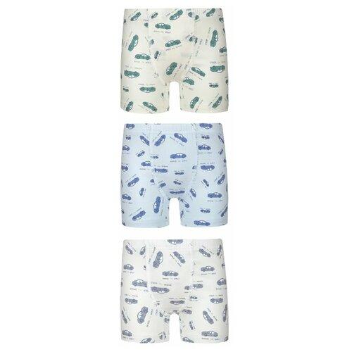 Купить Трусы BAYKAR 3 шт., размер 170/176, молочный/голубой/бежевый, Белье и пляжная мода