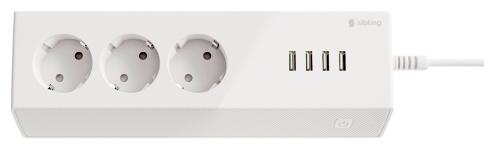 Сетевой фильтр Sibling Powerswitch-PS3U, 3 розетки, с/з, 10А / 2200 Вт