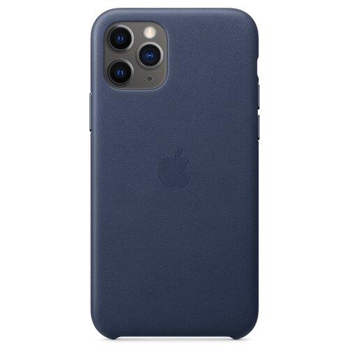 цена на Чехол Apple кожаный для Apple iPhone 11 Pro темно-синий