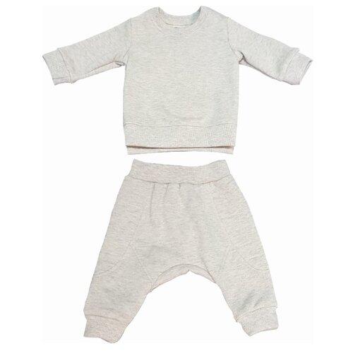 Купить Комплект одежды ЁМАЁ размер 74, светло-серый, Комплекты