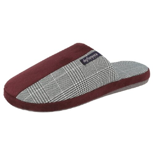 Тапочки Roma Top M433RU De Fonseca серый/бордовый 40/41 (De Fonseca)Домашняя обувь<br>