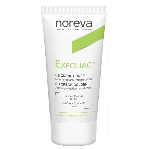 Noreva laboratories BB крем для проблемной кожи Exfoliac, 30 мл, оттенок: golden noreva laboratories bb крем для проблемной кожи exfoliac 30 мл оттенок light