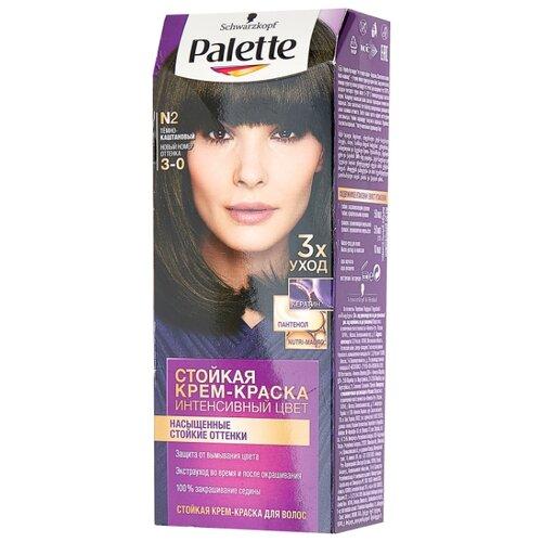 Фото - Palette Интенсивный цвет Стойкая крем-краска для волос, N2 3-0 Тёмно-каштановый palette фитолиния стойкая крем краска для волос 868 3 68 шоколадно каштановый