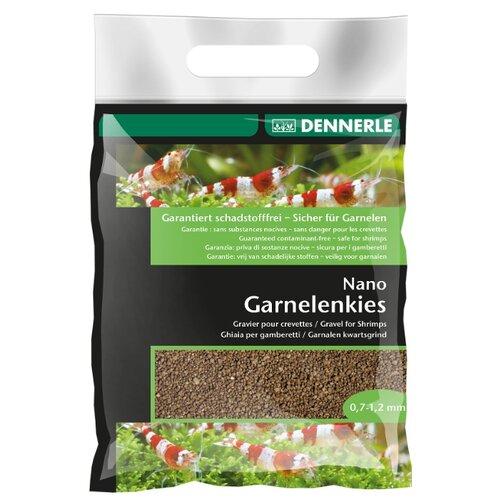 Грунт Dennerle Nano Garnelenkies (Nano Shrimps Gravel Bed), 2 кг Borneo Brown