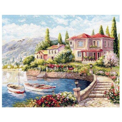 Купить Алиса Набор для вышивания крестиком Утро на побережье 38 х 31 см (3-16), Наборы для вышивания