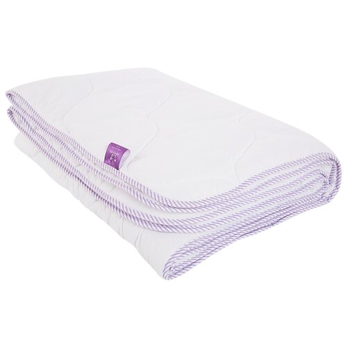 Одеяло Kupu-Kupu Stop Allergy Classik, легкое, 140 х 205 см (белый с сиреневым кантом) одеяло kupu kupu бамбук classic трикотажное легкое 140 х 205 см экрю