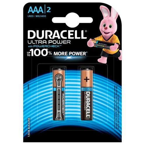 Фото - Батарейка Duracell Ultra Power AAA/LR03 2 шт блистер батарейка duracell ultra power aaa lr03 12 шт блистер