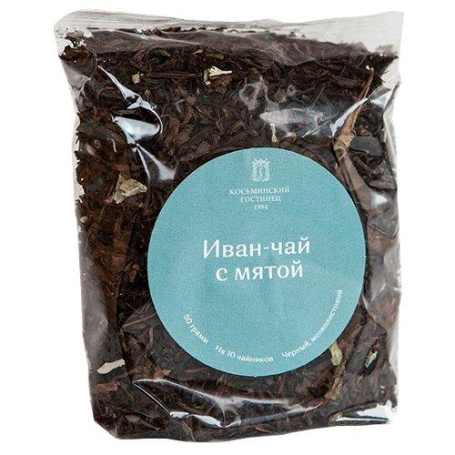 Чай травяной Косьминский гостинец Иван-чай с мятой, 50 г чай листовой мама карелия иван чай карельский с мятой перечной 50 г