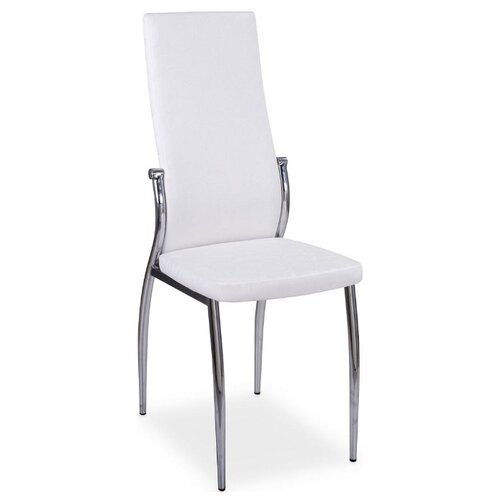 Стул Домотека Милано, металл/искусственная кожа, цвет: B0/B0 Искрящийся белый стул домотека милано металл искусственная кожа цвет d4 b1 темно коричневый с узором бежевый