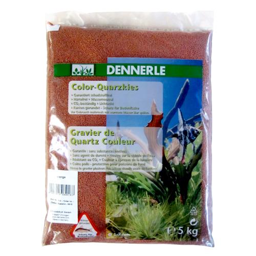 Грунт Dennerle Color Quarz 1-2 мм, 5 кг оранжевый