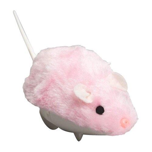 Мышь для кошек Пижон заводная меховая малая (355747) розовый
