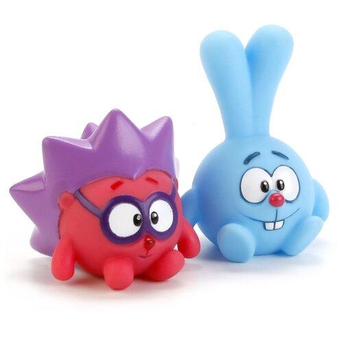 Набор для ванной Играем вместе Смешарики. Крош и Ёжик (LXS36-39) голубой/розовый/фиолетовый смешарики шторка экран смешарики на боковое окно фиолетовый