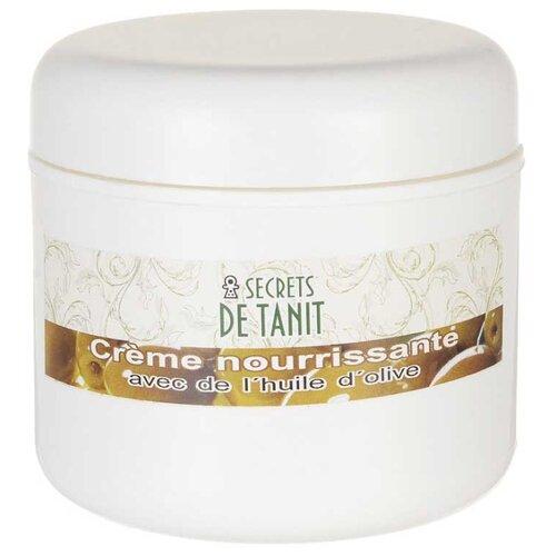 Secrets de Tanit Крем питательный для лица с маслом оливы, 100 г secrets de tanit маска для тела разогревающая глиняно водорослевая с маслом гвоздики 400 г
