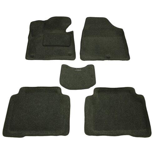 Комплект ковриков Boratex BRTX-1114 5 шт. темно-серый