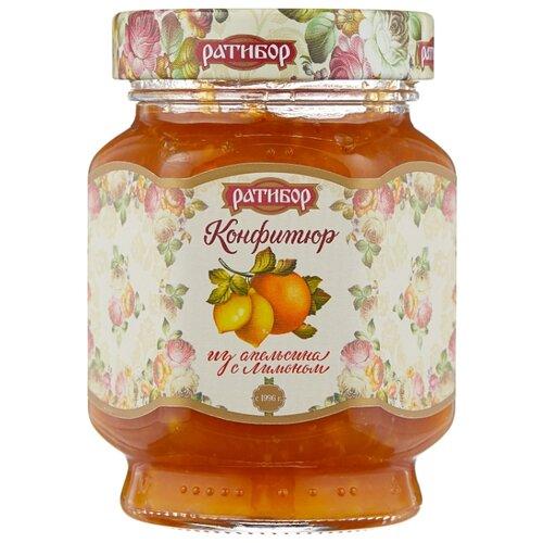 Конфитюр Ратибор из апельсина с лимоном, банка 350 г конфитюр ратибор из груши банка 350 г