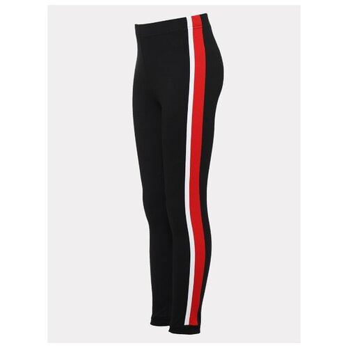 Купить Леггинсы Nota Bene 203271408 размер 140, черный/красный, Брюки