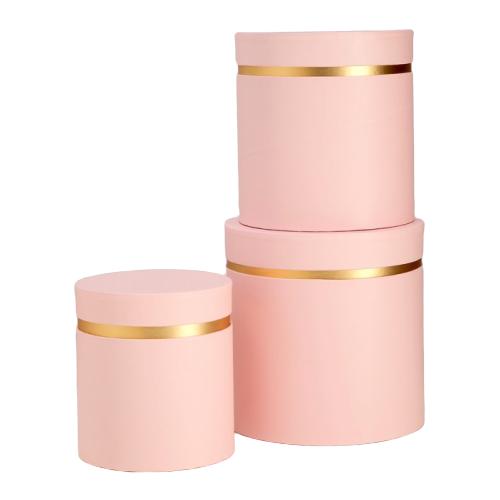 Набор подарочных коробок ESSA TOYS Тубус, 3 шт розовый