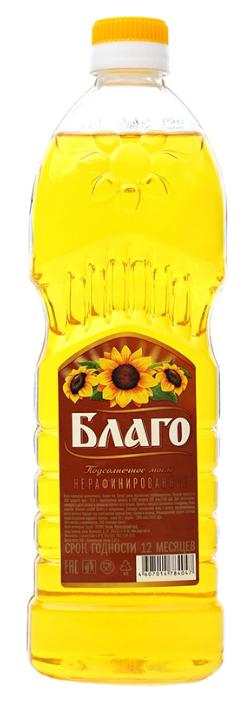 Благо Масло подсолнечное нерафинированное