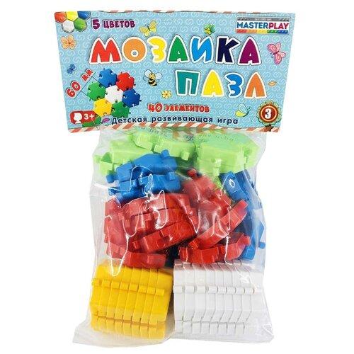 Купить 1-144 Мозаика-пазл №3, d 60 мм, 5 цветов, 40 деталей/уп, Colorplast