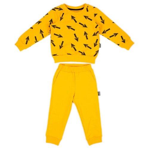 Комплект одежды bodo размер 110-116, горчичный/черныйКомплекты и форма<br>