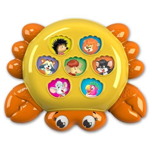 Развивающая игрушка Азбукварик Плеер Крошка. Крабик оранжевый/желтый