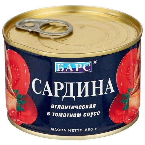 БАРС Сардина атлантическая в томатном соусе, 250 г